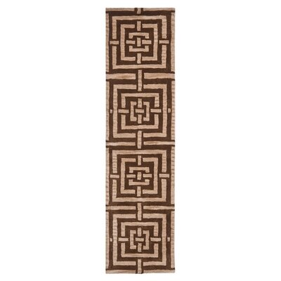 Holloman Brown Rug Rug Size: Runner 23 x 9