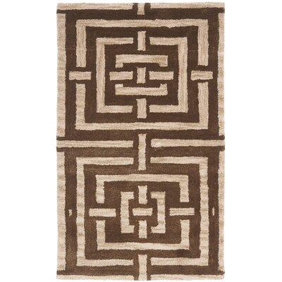 Holloman Brown Rug Rug Size: Rectangle 26 x 4