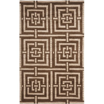 Holloman Brown Rug Rug Size: Rectangle 4 x 6