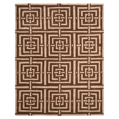 Goulding Brown Rug Rug Size: Rectangle 8 x 10