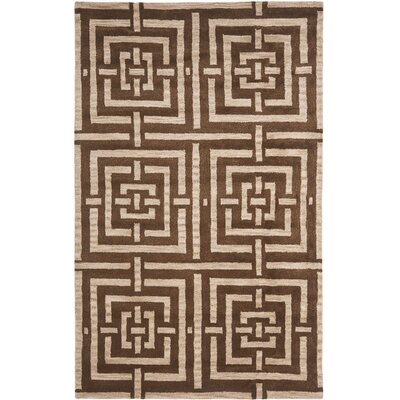 Holloman Brown Rug Rug Size: Rectangle 5 x 8