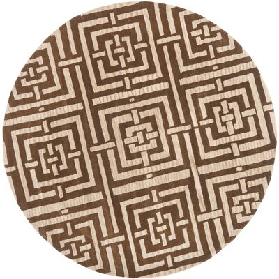 Goulding Brown Rug Rug Size: Round 7