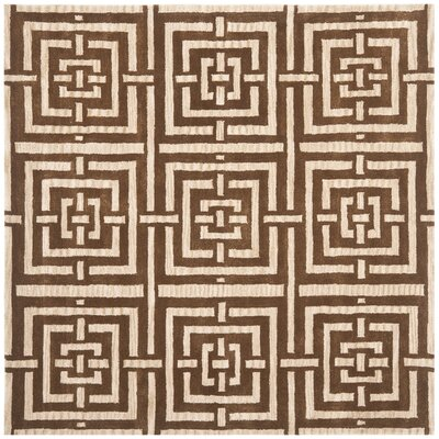 Holloman Brown Rug Rug Size: Square 7