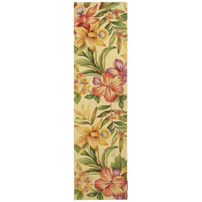 Everglades Cream / Beige Novelty Area Rug Rug Size: Runner 2'6