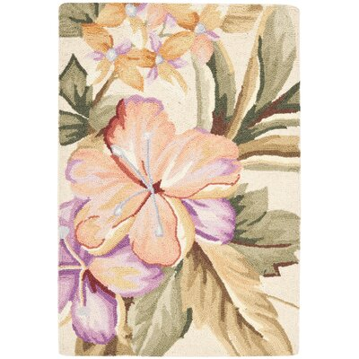 Everglades Cream / Beige Novelty Area Rug Rug Size: 89 x 119