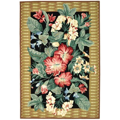Everglades Black/Brown Novelty Rug Rug Size: 6 x 9