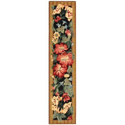 Hogle Black/Brown Novelty Rug Rug Size: Runner 26 x 8