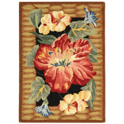 Everglades Black/Brown Novelty Rug Rug Size: 79 x 99