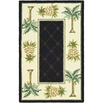 Everglades Black/Ivory Novelty Rug Rug Size: 89 x 119