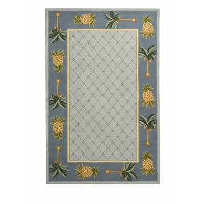 Everglades Light Blue/ Blue Novelty Area Rug Rug Size: 89 x 119