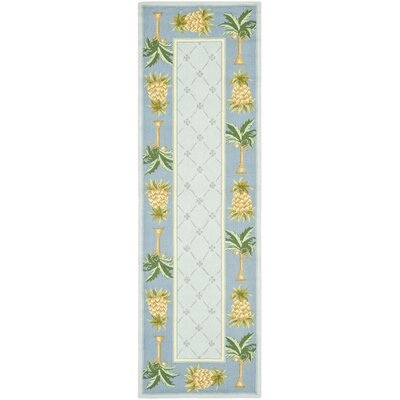 Everglades Light Blue/ Blue Novelty Area Rug Rug Size: Runner 26 x 12