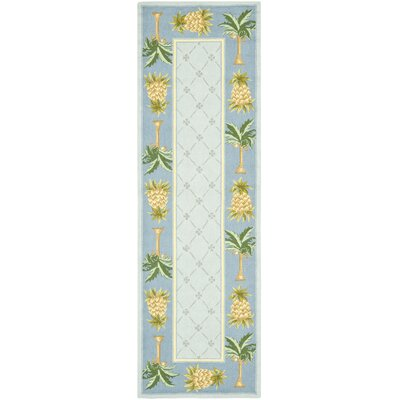 Hogle Light Blue/ Blue Novelty Area Rug Rug Size: Runner 26 x 8