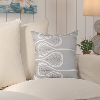 Hilde Fern 1 Outdoor Throw Pillow Size: 20 H x 20 W, Color: Gray