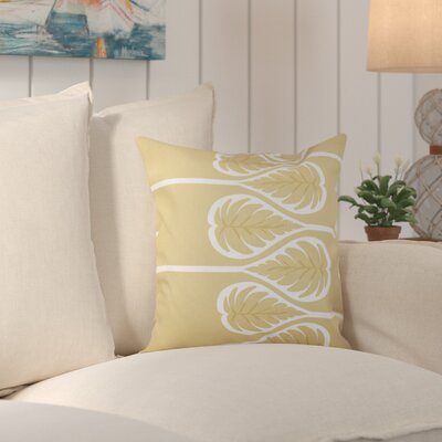Hilde Fern 1 Outdoor Throw Pillow Size: 18 H x 18 W, Color: Gold