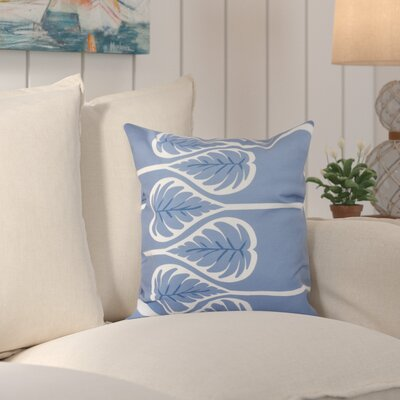 Hilde Fern 1 Outdoor Throw Pillow Size: 18 H x 18 W, Color: Blue