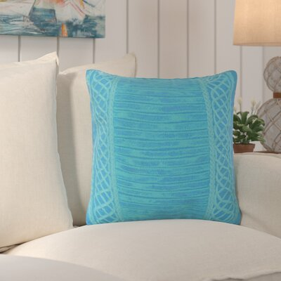 Deryneia Stripe Indoor/Outdoor Throw Pillow Color: Blue
