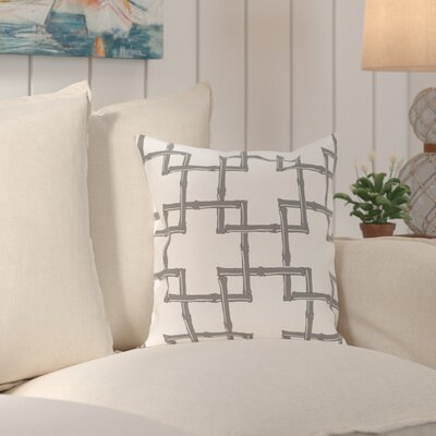 Connelly Bamboo  Geometric Outdoor Throw Pillow Size: 18 H x 18 W, Color: Gray