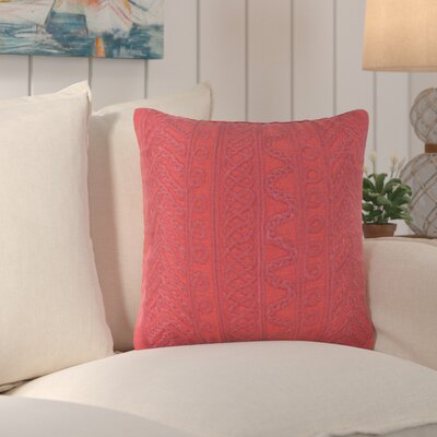 Deryneia Grove Indoor/Outdoor Throw Pillow Color: Red