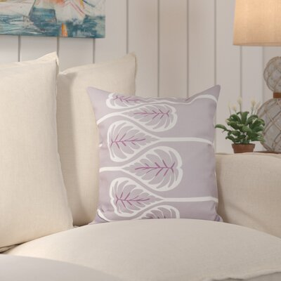 Hilde Fern 1 Outdoor Throw Pillow Size: 18 H x 18 W, Color: Lavender