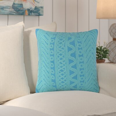 Deryneia Grove Indoor/Outdoor Throw Pillow Color: Blue