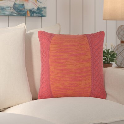 Deryneia Stripe Indoor/Outdoor Throw Pillow Color: Red