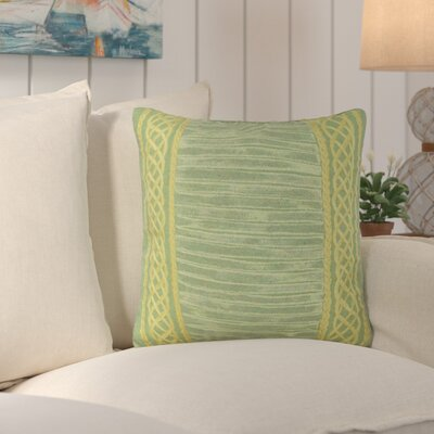 Deryneia Stripe Indoor/Outdoor Throw Pillow Color: Sage
