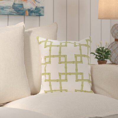 Connelly Bamboo  Geometric Outdoor Throw Pillow Size: 18 H x 18 W, Color: Green