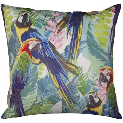 Linden Tropical Parrots Throw Pillow