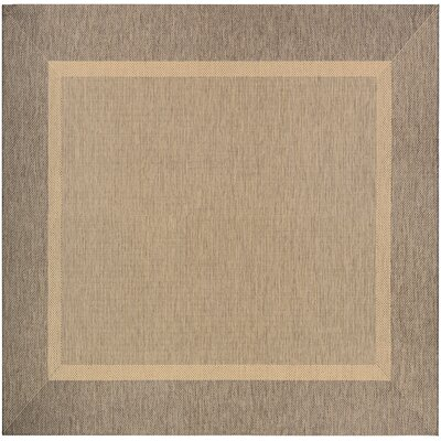 Linden Texture Beige/Brown Indoor/Outdoor Area Rug Rug Size: Square 76