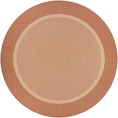 Linden Texture Beige/Terracotta Indoor/Outdoor Area Rug Rug Size: Rectangle 76 x 109