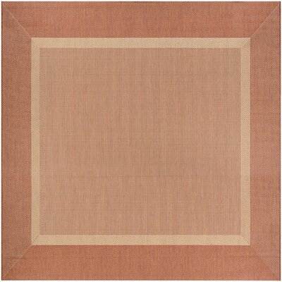 Karakum Texture Beige/Terracotta Indoor/Outdoor Area Rug Rug Size: Square 76