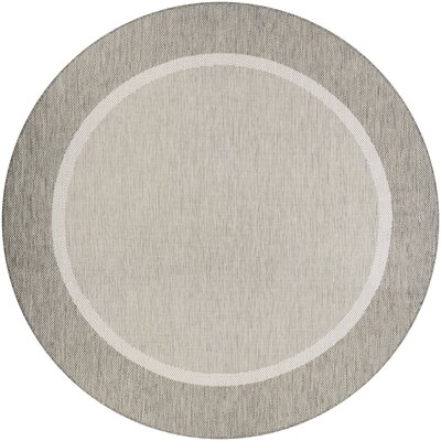 Linden Taupe Indoor/Outdoor Area Rug Rug Size: Round 76