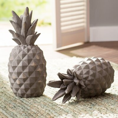 Aged Gray Pineapple Sculpture