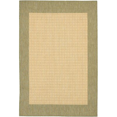 Celia Checkered Field Natural Indoor/Outdoor Area Rug Rug Size: 53 x 76