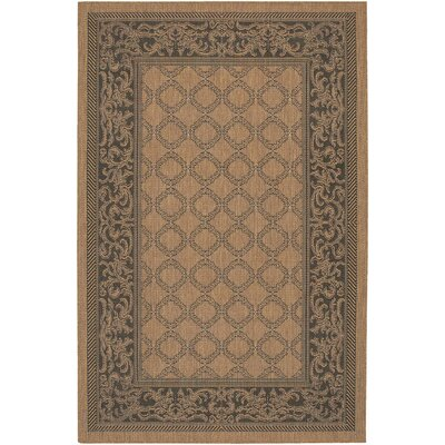 Celia Cocoa/Black Indoor/Outdoor Area Rug Rug Size: Runner 23 x 71