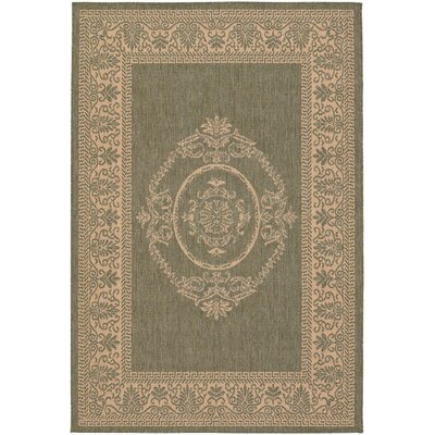 Celia Natural Indoor/Outdoor Area Rug Rug Size: 53 x 76