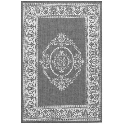 Celia Gray Indoor/Outdoor Area Rug Rug Size: 5'3