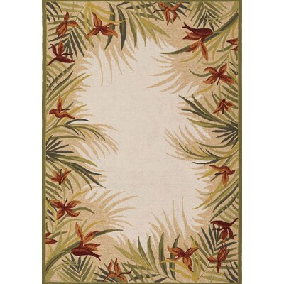 Wallingford Hand-Woven Sand Indoor/Outdoor Area Rug Rug Size: 36 x 56