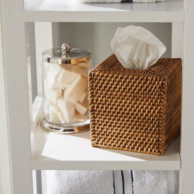 Kentfield Square Rattan Tissue Box Cover