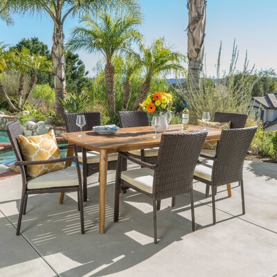 Cleveland 7 Piece Dining Set with Cushions