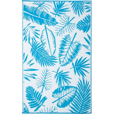 Dixon Blue Indoor/Outdoor Area Rug Rug Size: 5 x 8