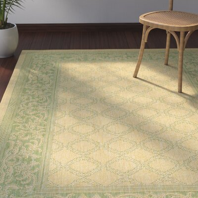 Southard Natural/Green Indoor/Outdoor Area Rug Rug Size: 510 x 92