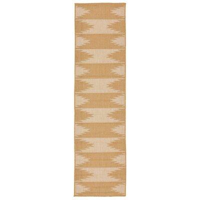 Bynum Almond/Camel Indoor/Outdoor Area Rug Rug Size: Runner 111 x 76