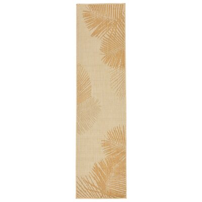 Cecile Palm Neutral Indoor/Outdoor Area Rug Rug Size: Runner 111 x 76