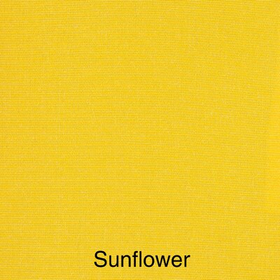Outdoor Lounge Chair Cushion Fabric: Canvas Sunflower Yellow, Size: 23 x 27