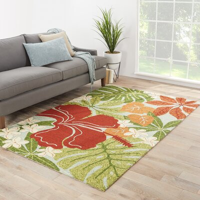 Artemi Surf Spray/Bossa Nova Indoor/Outdoor Area Rug Rug Size: 36 x 56