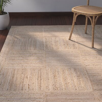 Raposa Hand-Woven Beige/Brown Area Rug Rug Size: Rectangle 4 x 6