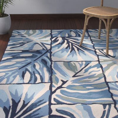 Nieves Blue/Ivory Indoor/Outdoor Area Rug Rug Size: 76 x 96