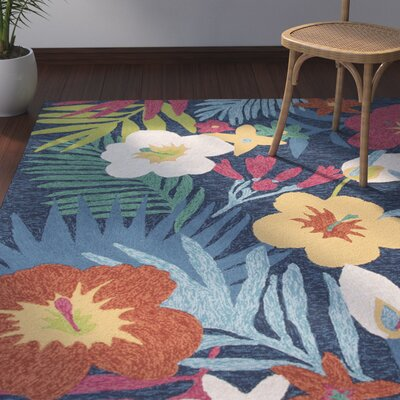 Artemi Blue/Pink Indoor/Outdoor Area Rug Rug Size: 2 x 3