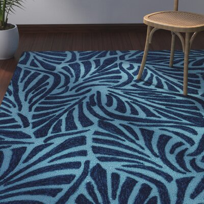 Artemi Pagoda Blue/Navy Indoor/Outdoor Area Rug Rug Size: 2' x 3'